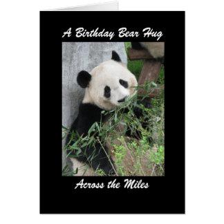 Panda Birthday Bear Hug Across the Miles Card
