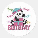 Panda Birthday Classic Round Sticker