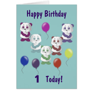 Panda Birthday Greeting Card