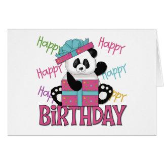 Panda Birthday Greeting Cards