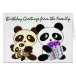 Panda birthday greetings stationery note card