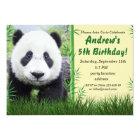 Panda birthday invitation