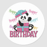 Panda Birthday Round Sticker