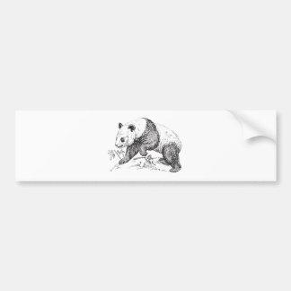 Panda Black and White Walking Bumper Sticker