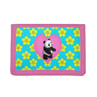 Panda Bon Bon for Girls Trifold Wallet