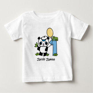 Panda Boy 1st Birthday Baby T-Shirt