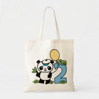 Panda Boy 2nd Birthday Tote Bag