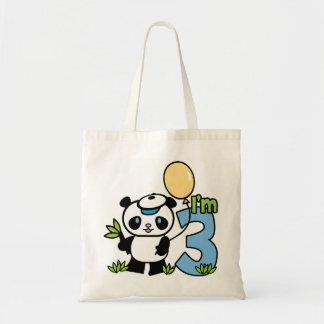 Panda Boy 3rd Birthday Bag