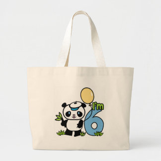 Panda Boy 6th Birthday Jumbo Tote Bag