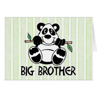 Panda Boy Big Brother Card