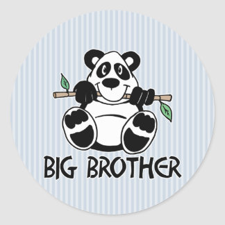 Panda Boy Big Brother Classic Round Sticker
