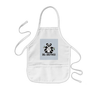Panda Boy Big Brother Kids Apron