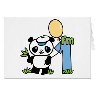 Panda Boy First Birthday Invitations