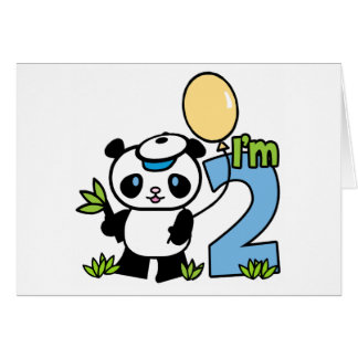 Panda Boy First Birthday Invitations
