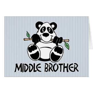 Panda Boy Middle Brother Note Card