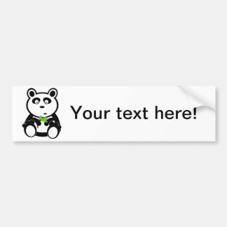 Panda cartoon bumper sticker
