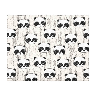 Panda - Champagne Black White / Andrea Lauren Gallery Wrapped Canvas