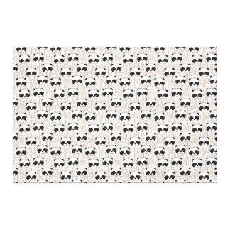 Panda - Champagne Black White / Andrea Lauren Stretched Canvas Prints