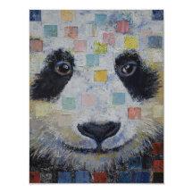 Panda Checkers 11cm X 14cm Invitation Card