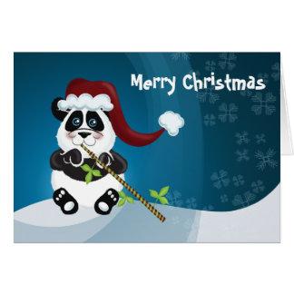 Panda Christmas Greeting Card