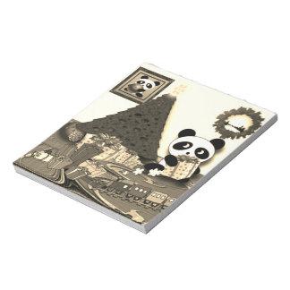 Panda Christmas Notepad