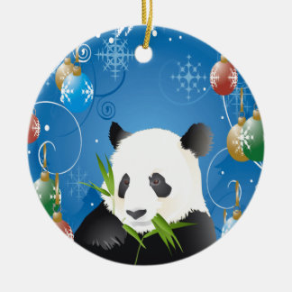 PANDA CHRISTMAS ORNAMENT