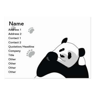 Panda - Chubby Large Business Cards (Pack Of 100)