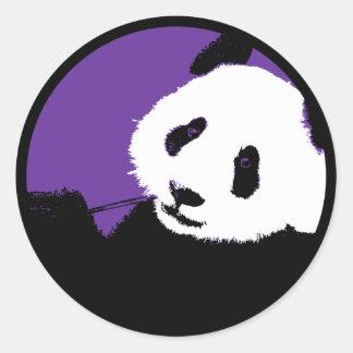 panda. classic round sticker