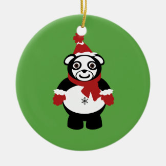 panda claus ornament