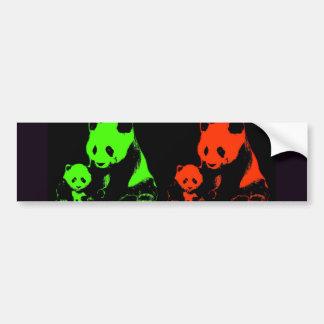 Panda Collage Bumper Sticker