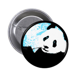 panda. color customizable circle. 6 cm round badge