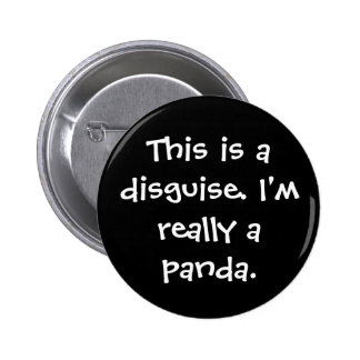 Panda Costume 6 Cm Round Badge