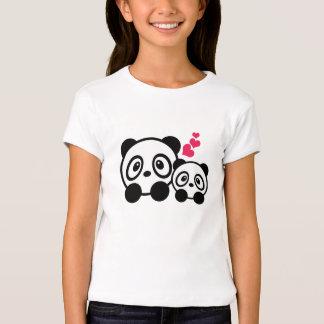 Panda couple girls t-shirt
