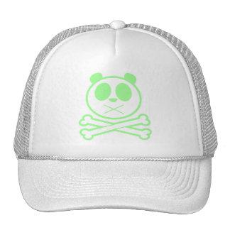 Panda Cross Bone - Green Hat