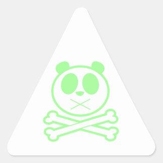 Panda Cross Bone - Green Triangle Stickers