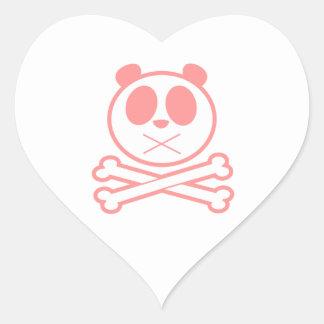 Panda Cross Bone - Pink Sticker