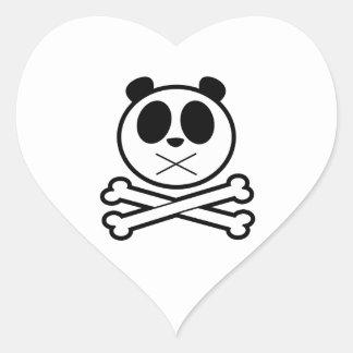 Panda Cross Bone Heart Stickers