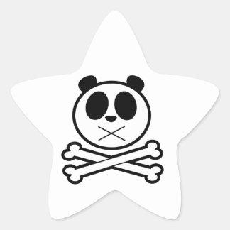 Panda Cross Bone Star Stickers
