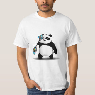 Panda Cyborg Geek Shirt