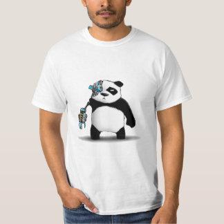 Panda Cyborg Geek T-Shirt