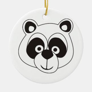 Panda Round Ceramic Decoration
