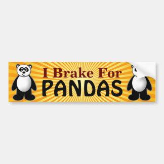 Panda Design Bumper Sticker