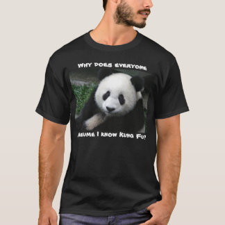 Panda doesn't know Kung Fu shirt dark