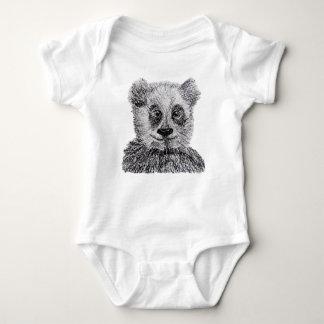 Panda drawing Baby Jersey Bodysuit
