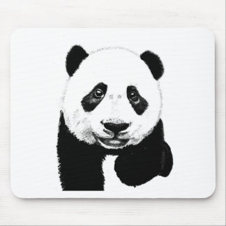 Panda drawing mouse mat