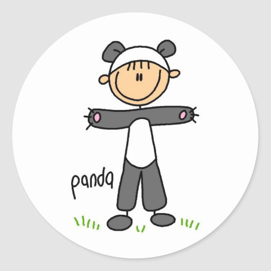 Panda Dress Up T-shirts and gifts Classic Round