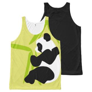 Panda Eating Bamboo All-Over Print Tank Top
