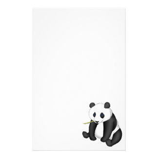 Panda Eating Bamboo Customised Stationery