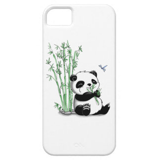 Panda Eating Bamboo iPhone 5 Cases