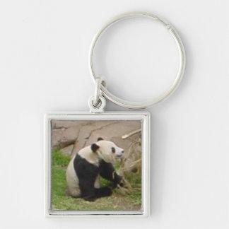 Panda Eating Bamboo Key Chain